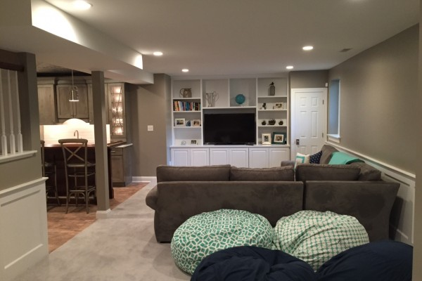 Malvern basement renovation with playroom